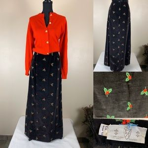 Vintage Skirt Christmas Maxi for Fun🎄outfit
